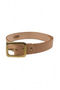 Iron Heart Heavy Duty Cowhide Belt - Brass/Tan - Image 0