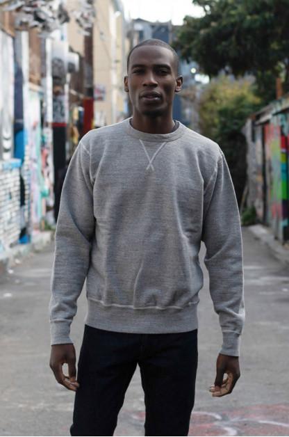 Buzz Rickson Flatlock Seam Crewneck Sweater - Gray