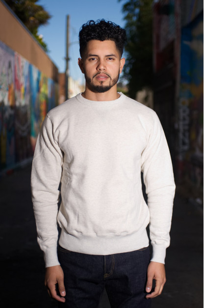 Buzz Rickson Flatlock Seam Crewneck Sweater - Oatmeal