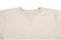 Buzz Rickson Flatlock Seam Crewneck Sweater - Oatmeal - Image 4