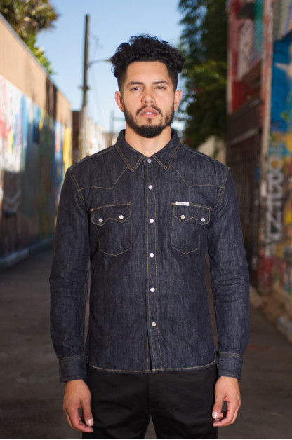 Flat Head Sawtooth Selvedge Denim Shirt - New Edition