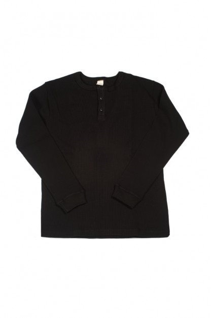 3sixteen Thermal Henley - Long Sleeve Black