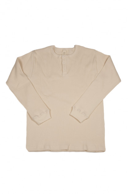 3sixteen Thermal Henley - Long Sleeve Natural
