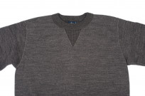 Studio D'Artisan Loopwheeled Sweater - Suvin Gold Heather Black - Image 3