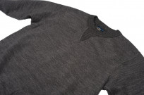 Studio D'Artisan Loopwheeled Sweater - Suvin Gold Heather Black - Image 4
