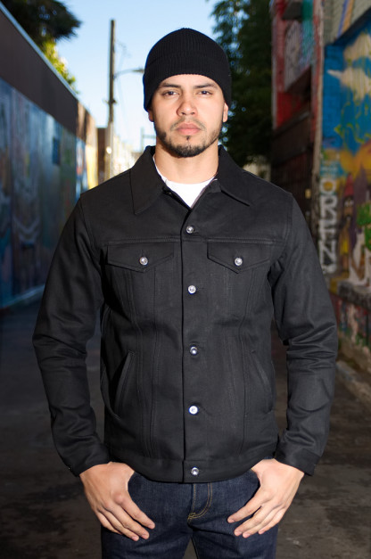 3sixteen Type III Jacket - Double Black 14.5oz