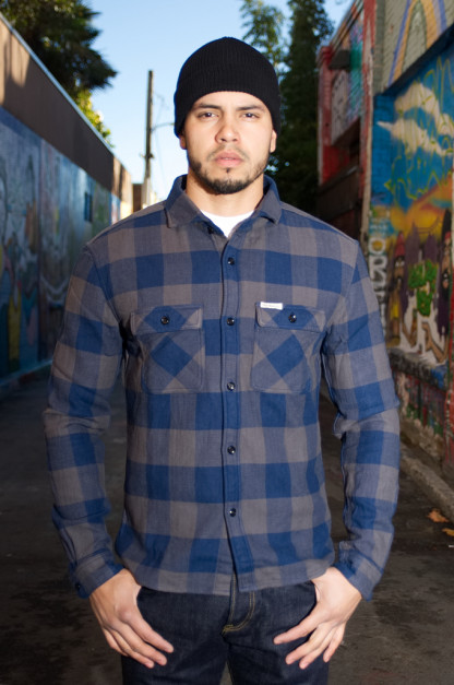 Flat Head Gray Chaos Winter Heavy Flannel - Workshirt