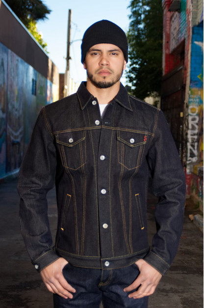 Iron Heart Left Hand Twill Denim 19oz Jacket - Modified