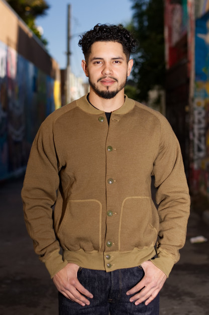 Stevenson Blended Fleece Peak Atsu Jacket - Olive