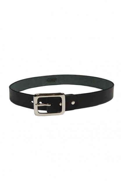 Iron Heart Heavy Duty Cowhide Belt - Nickel/Black