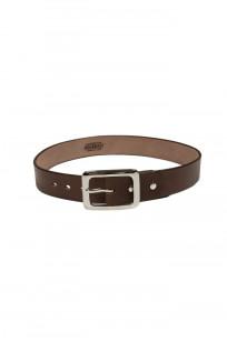 Iron Heart Heavy Duty Cowhide Belt - Nickel/Brown - Image 0
