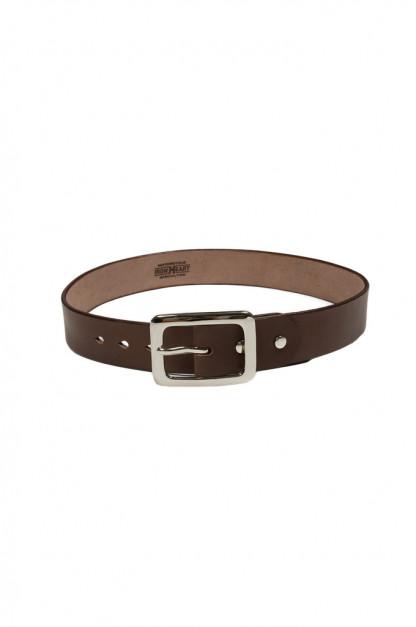 Iron Heart Heavy Duty Cowhide Belt - Nickel/Brown