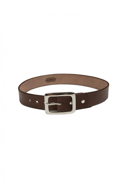 Iron Heart Heavy Duty Cowhide Belt - Nickel/Brown