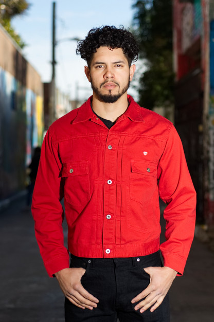 Human Made Burger Air Pique Cotton Jacket - Japanese Red