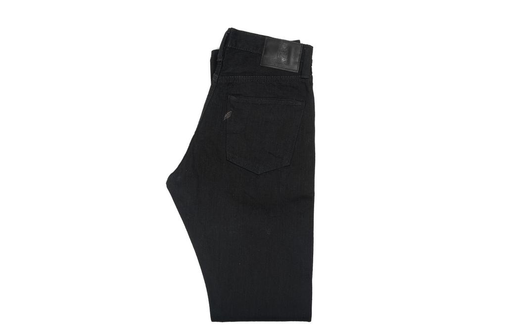 Pure Blue Japan XX-019-BB Slubby Double Black Jean - Straight Tapered - Image 2