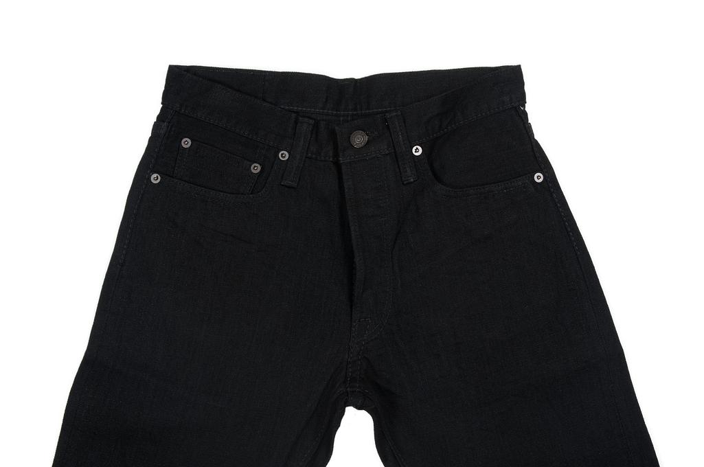 Pure Blue Japan XX-019-BB Slubby Double Black Jean - Straight Tapered - Image 3