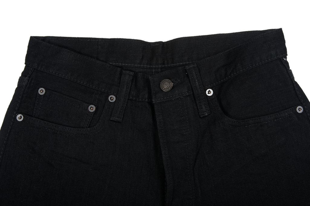 Pure Blue Japan XX-019-BB Slubby Double Black Jean - Straight Tapered - Image 4