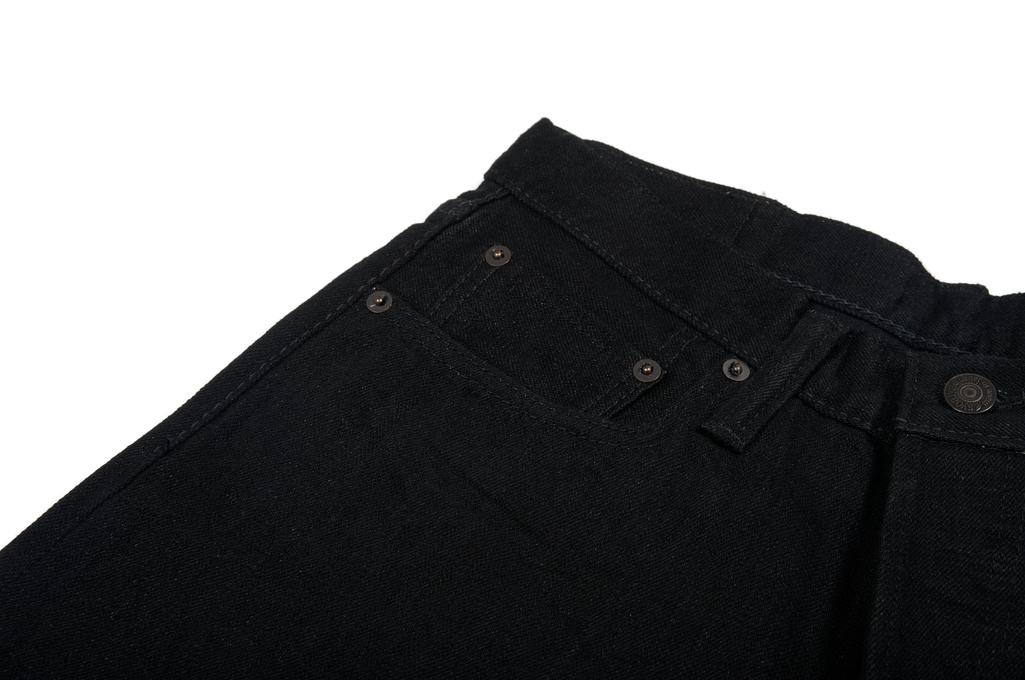 Pure Blue Japan XX-019-BB Slubby Double Black Jean - Straight Tapered - Image 5