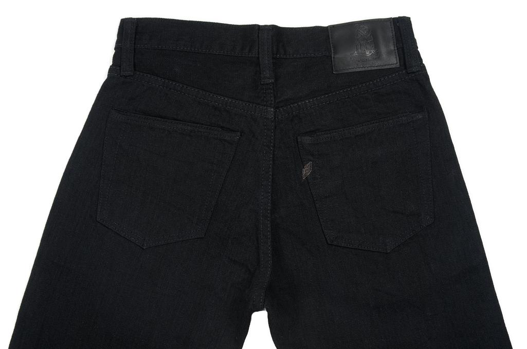 Pure Blue Japan XX-019-BB Slubby Double Black Jean - Straight Tapered - Image 6