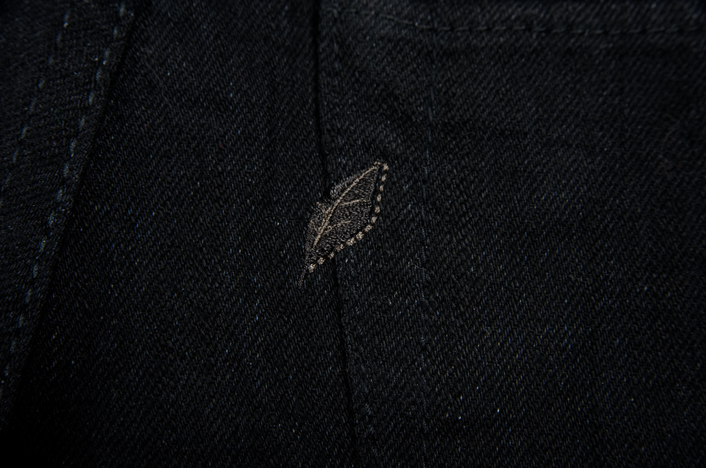 Pure Blue Japan XX-019-BB Slubby Double Black Jean - Straight Tapered - Image 8