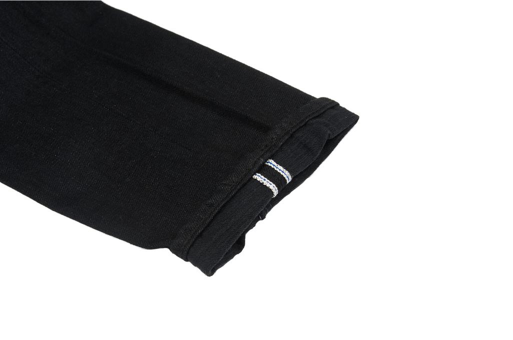 Pure Blue Japan XX-019-BB Slubby Double Black Jean - Straight Tapered - Image 9