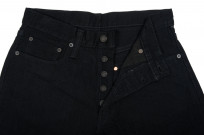 Pure Blue Japan XX-019-BB Slubby Double Black Jean - Straight Tapered - Image 10