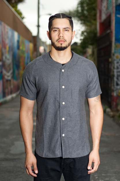 3sixteen Fourth Base Baseball Shirt - Gray