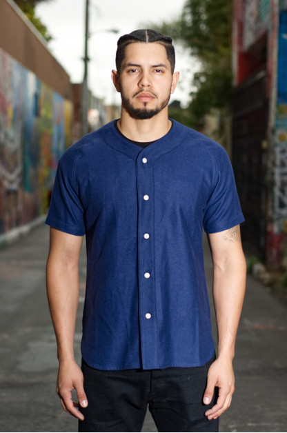 3sixteen Fourth Base Baseball Shirt - Navy