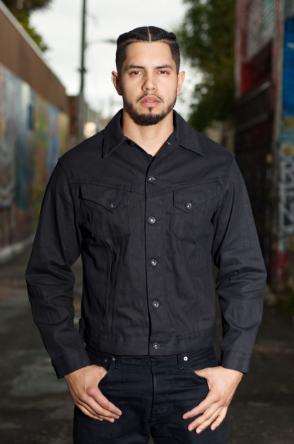 Mister Freedom Cowboy Jacket - Coated Black Denim