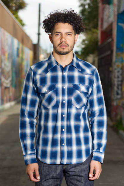 Iron Heart 2018 Indigo Check Western