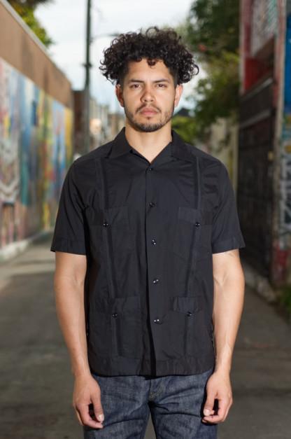 Monitaly Guayabera Shirt - Vancloth Black