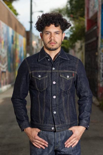 Iron Heart Type III 21oz Indigo Jacket w/ Hand Pockets