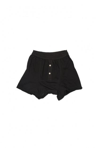 Merz B. Schwanen Loopwheeled Boxer Brief Underwear - Black