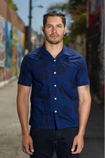 Sugar Cane Duke Kahanamoku Pineapple Blues Shirt