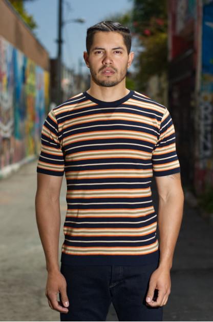 Stevenson High-Gauge Cotton Knit Shirt - Dark Navy
