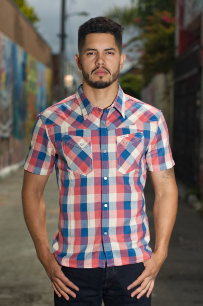 Flat Head Airdrop Edible Short Sleeve Shirt - Light Blue