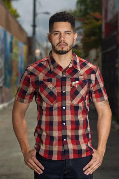 Flat Head Airdrop Edible Short Sleeve Shirt - Red