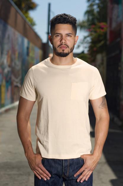 Merz b. Schwanen 2-Thread Heavyweight T-Shirt - Natural Pocket