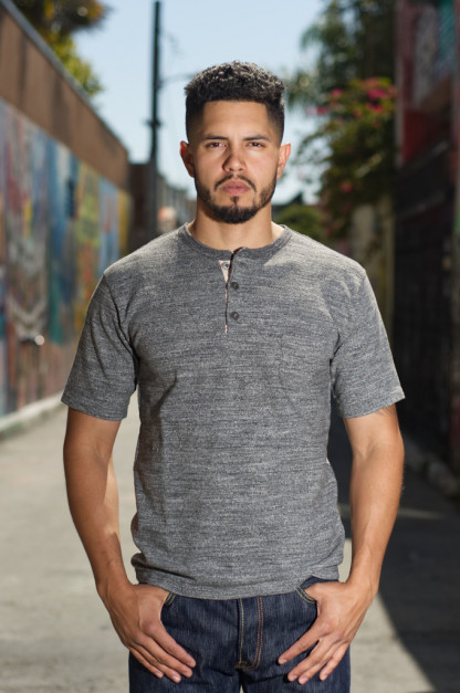 Orgueil Wave Master Flex Shirt - Gray Henley