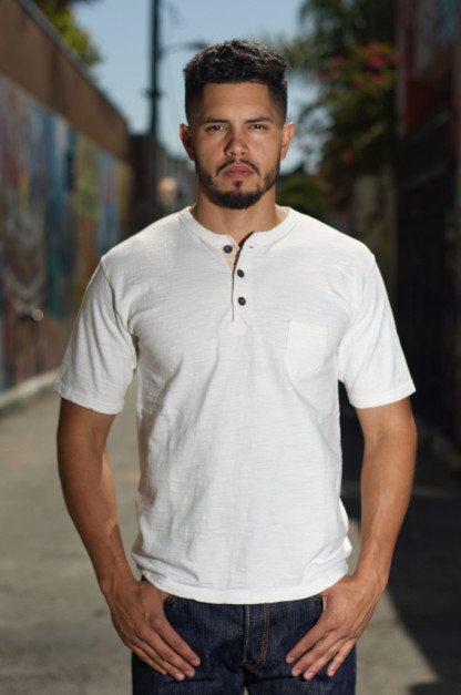 Orgueil Wave Master Flex Shirt - White Henley