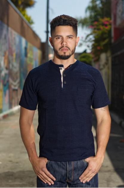 Orgueil Wave Master Flex Shirt - Indigo Henley
