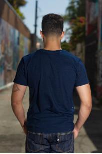 Pure Blue Japan Yarn-Dyed Indigo T-Shirt - Image 1