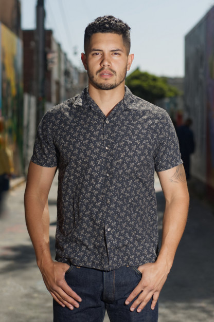 Stevenson Gayphextwin Summers Shirt - Charcoal Discharged