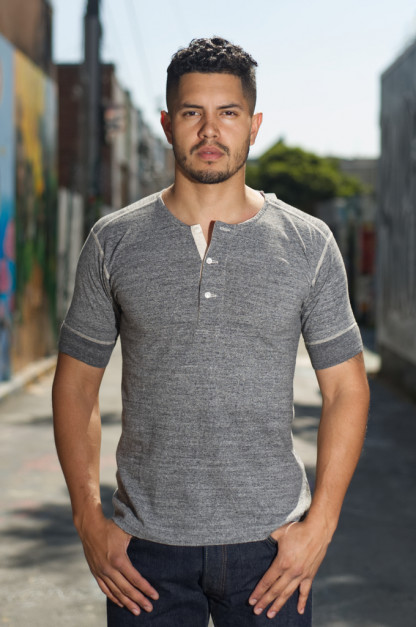 Stevenson Loopwheeled Short Sleeve - Henley Gray