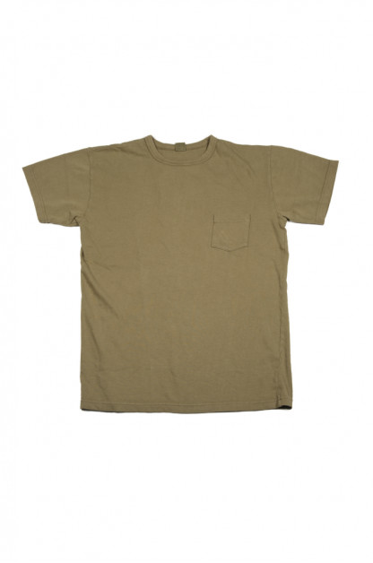 3sixteen Garment Dyed Pocket T-Shirt - Olive