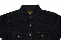 Iron Heart 18oz Denim CPO Shirt w/ Hand Pockets - Overdyed - Image 3