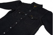 Iron Heart 18oz Denim CPO Shirt w/ Hand Pockets - Overdyed - Image 5