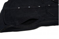 Iron Heart 18oz Denim CPO Shirt w/ Hand Pockets - Overdyed - Image 7