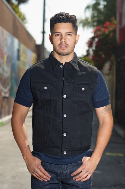 Iron Heart Sonny's Black Denim Vest