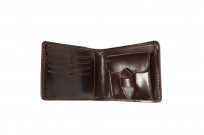 Flat Head Shell Cordovan Half-Fold Wallet - Brown - Image 3